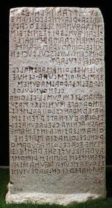 cippo perugino - scrittura etrusca
